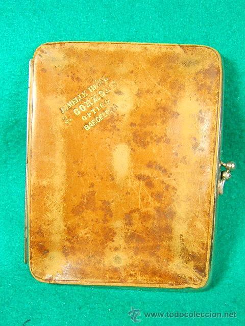 Antigüedades: BINOCULARES JUMELLE IDEAL-J.CORRONS OPTICO-BARCELONA-11X9X2 CM-CON FUNDA DE CUERO-PLEGABLES-1870... - Foto 7 - 40989066