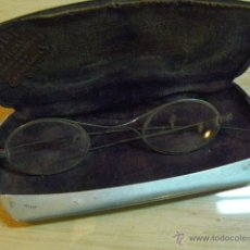 Antiquités: CURIOSAS GAFAS ANTIGUAS FABRICADAS POR G. COTET. Lote 40998556