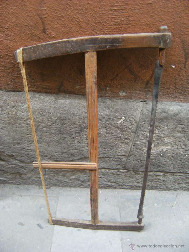 ANTIGUA SIERRA DE EBANISTA-CARPINTERO, DE MADERA (Antigüedades - Técnicas - Herramientas Profesionales - Carpintería )