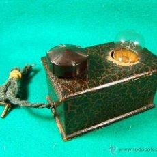 Antigüedades: LINTERNA MAGICA CON BOMBILLA Y LUZ GRADUABLE SOMBRAS CHINESCAS,QUIZAS TAMBIEN....-FINAL SIGLO XIX. Lote 41052007