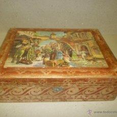 Antigüedades: COSTURERO DE MADERA CON ESPEJO ANTIGUO. Lote 41069074