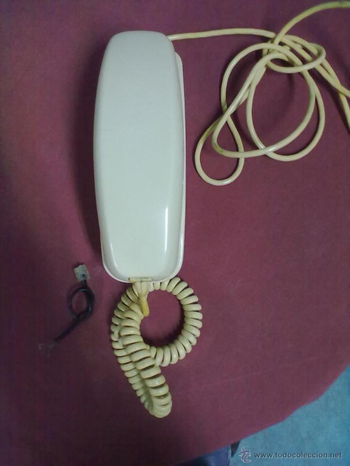 TELEFONO GONDOLA COLOR HUESO DE SOBREMESA CITESA MALAGA ESPAÑA SIN COMPROBAR (Antigüedades - Técnicas - Teléfonos Antiguos)
