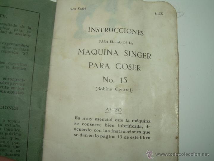 Antigüedades: ANTIGUO CATALOGO DE INSTRUCCIONES.... SINGER.... Y CAJA CON ACCESORIOS. - Foto 5 - 41115088