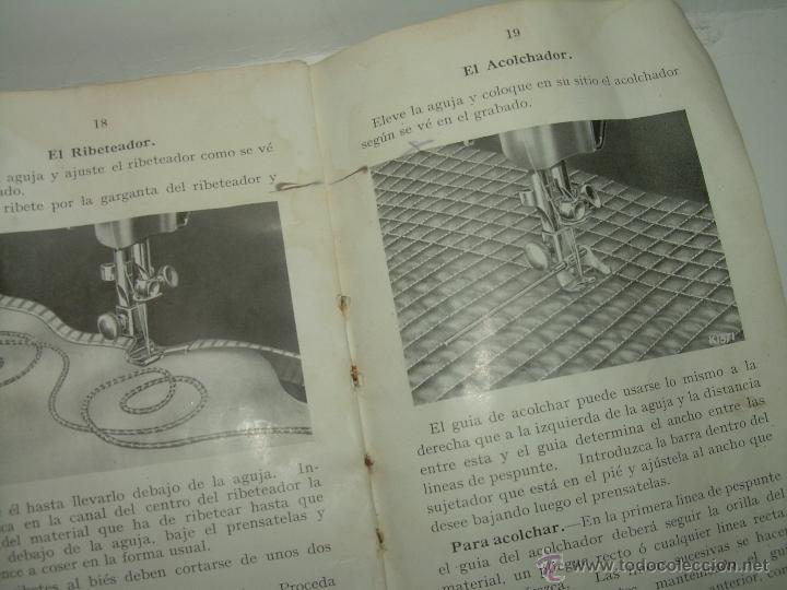 Antigüedades: ANTIGUO CATALOGO DE INSTRUCCIONES.... SINGER.... Y CAJA CON ACCESORIOS. - Foto 6 - 41115088