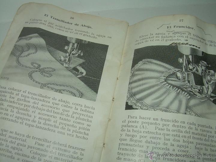 Antigüedades: ANTIGUO CATALOGO DE INSTRUCCIONES.... SINGER.... Y CAJA CON ACCESORIOS. - Foto 8 - 41115088