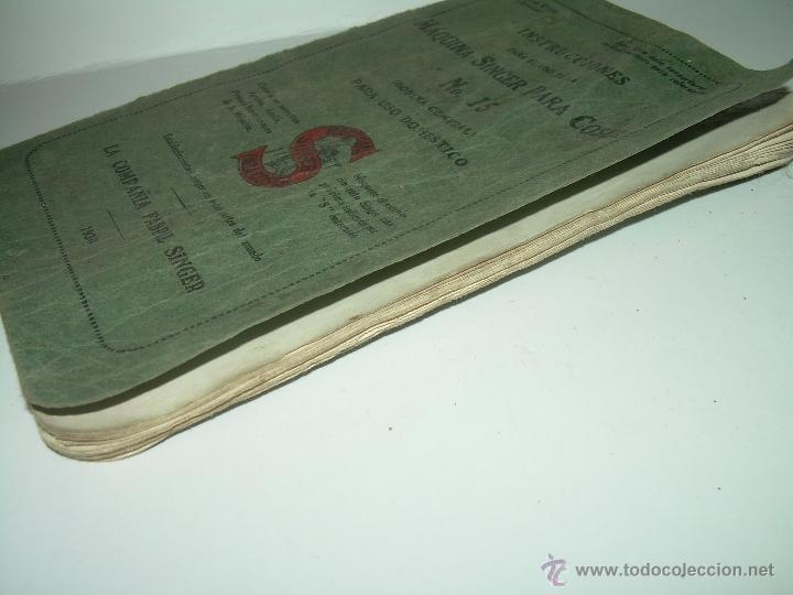 Antigüedades: ANTIGUO CATALOGO DE INSTRUCCIONES.... SINGER.... Y CAJA CON ACCESORIOS. - Foto 9 - 41115088