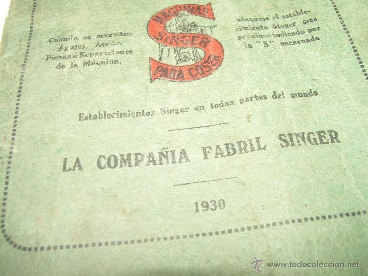 Antigüedades: ANTIGUO CATALOGO DE INSTRUCCIONES.... SINGER.... Y CAJA CON ACCESORIOS. - Foto 10 - 41115088
