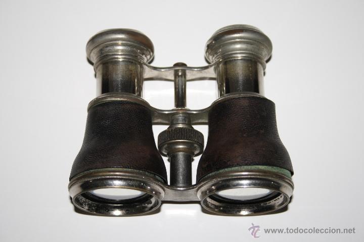 Antigüedades: BINOCULARES EN METAL Y CUERO - JUAN LUBAT ÓPTICO VALENCIA - FINALES S.XIX - Foto 3 - 160348198