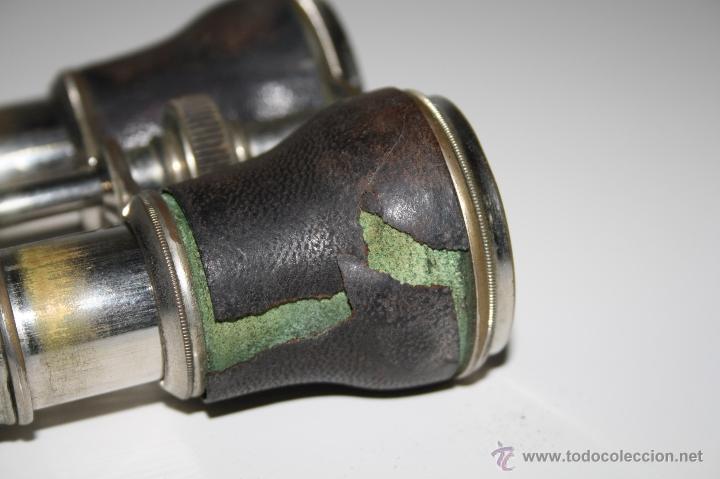 Antigüedades: BINOCULARES EN METAL Y CUERO - JUAN LUBAT ÓPTICO VALENCIA - FINALES S.XIX - Foto 8 - 160348198