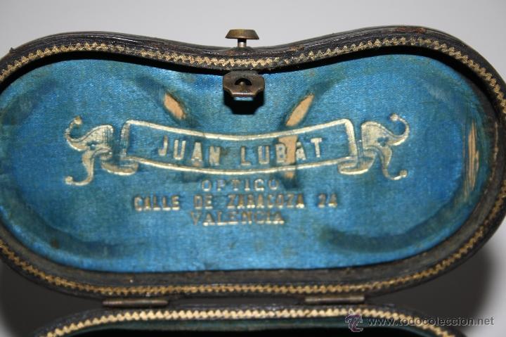 Antigüedades: BINOCULARES EN METAL Y CUERO - JUAN LUBAT ÓPTICO VALENCIA - FINALES S.XIX - Foto 9 - 160348198