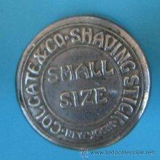 Antigüedades: CAJA METÁLICA. ENVASE METÁLICO PARA CONTENER BARRA DE JABÓN DE AFEITAR. COLGATE SHAVING STICK.. Lote 41268881