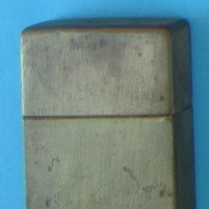 Antigüedades: CAJA METÁLICA PARA CONTENER CUCHILLAS DE AFEITAR GILLETE.. Lote 41271125