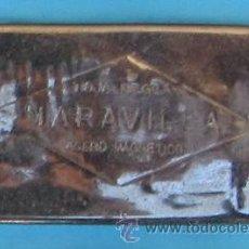 Antigüedades: CAJA METÁLICA PARA CONTENER CUCHILLAS DE AFEITAR MARAVILLA.. Lote 41272064