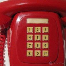 Phones - TELEFONO HERALDO CITESA TECLAS ADAPTADO. ROJO ORIGINAL VINTAGE - 41289530