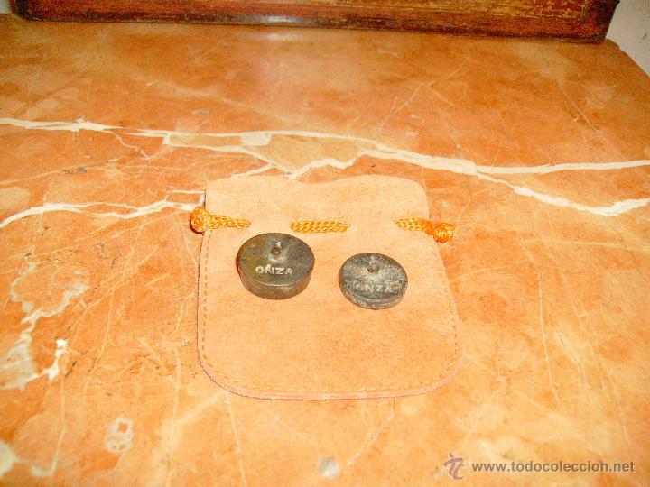 Antigüedades: lote de 1 onza y media onza. - Foto 2 - 41296296
