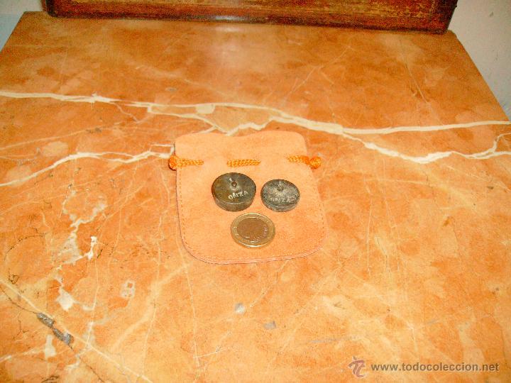 Antigüedades: lote de 1 onza y media onza. - Foto 4 - 41296296