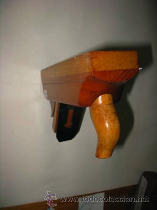 Antigüedades: cepillo de carpintero muy antiguo de moldura con soporte - Foto 2 - 41314936