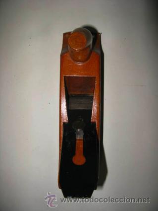 Antigüedades: cepillo de carpintero muy antiguo de moldura con soporte - Foto 3 - 41314936