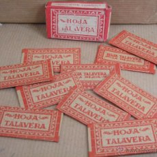 Antigüedades: CAJA CUCHILLAS DE AFEITAR - HOJA TALAVERA - ACERO SUPERIOR ¡¡ COMPLETA 10 UNDS ¡¡¡ CUCHILLA HOJA. Lote 45040065