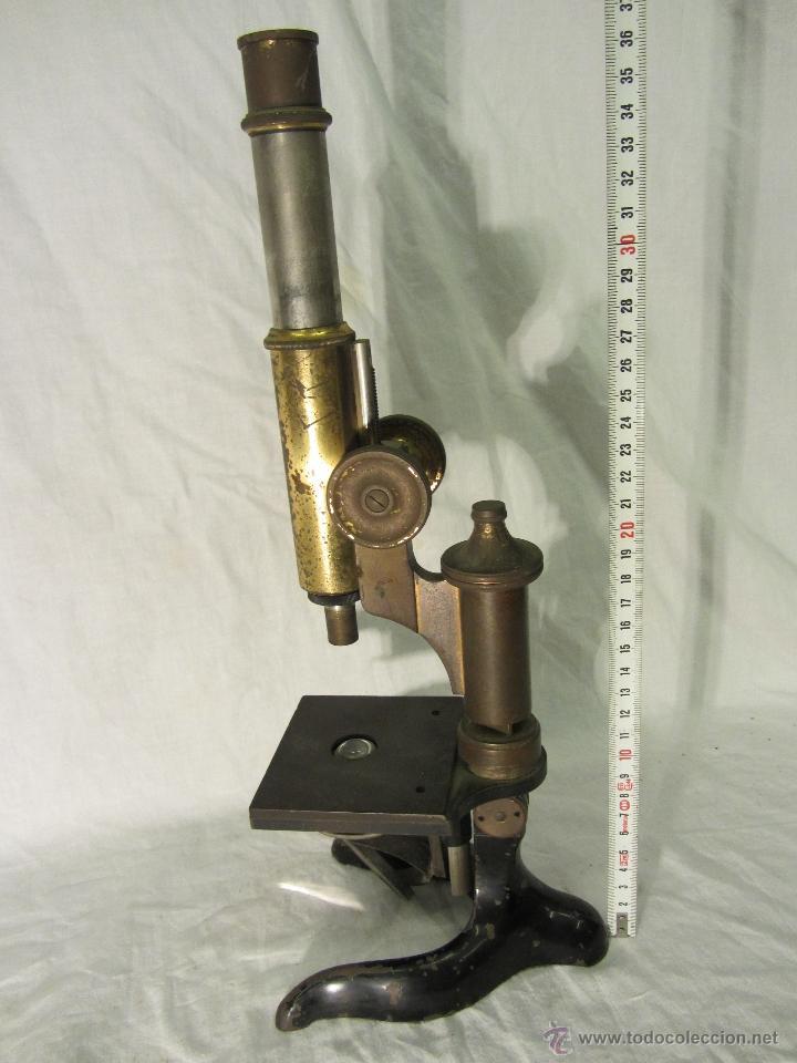 MICROSCOPIO ALEMAN LEITZ WETZLAR CON Nº DE SERIE / HACIA 1905 (Antigüedades - Técnicas - Instrumentos Ópticos - Microscopios Antiguos)