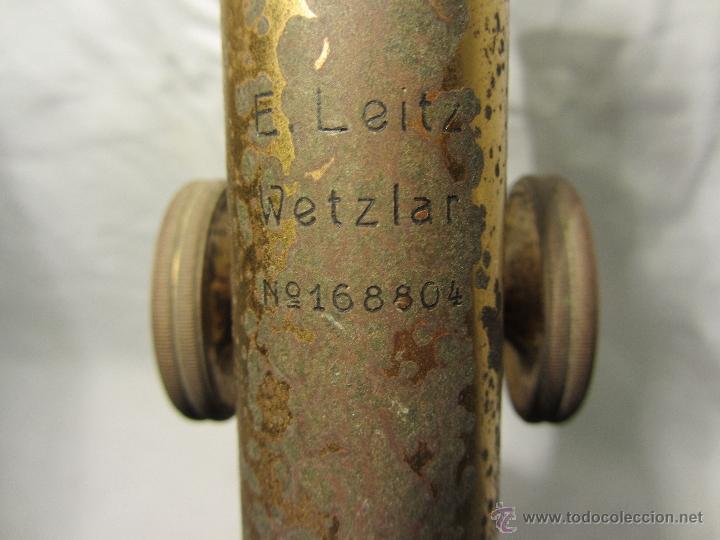 Antigüedades: MICROSCOPIO ALEMAN LEITZ WETZLAR CON Nº DE SERIE / HACIA 1905 - Foto 6 - 41335834