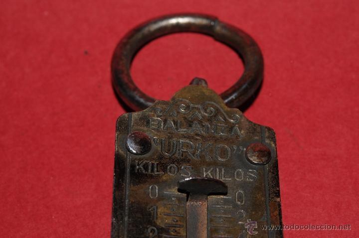 Antigüedades: ANTIGUA BALANZA URKO CON MUELLE DINAMOMETRO - Foto 6 - 41340539