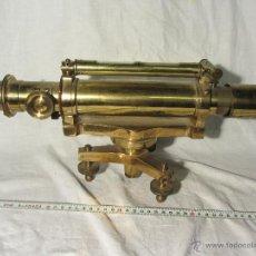 Antigüedades: MAGNIFICO NIVEL DE AGRIMENSOR, MARCA COOKE'S, PATENT Nº 12175 / HACIA 1905. Lote 41340933