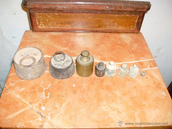 Antigüedades: lote de antiguas pesas - Foto 2 - 41357455