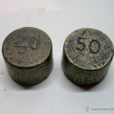 Antigüedades: ANTIGUAS PESAS REDONDAS. Lote 41385626