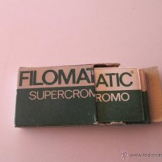 Antigüedades: PAQUETE 5 HOJAS DE AFEITAR FILOMATIC SUPERCROMO. Lote 41416106