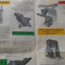 Antigüedades: ANTIGUO CATALOGO ORIGINAL MAQUINARIA PARA EL VINO MARRODAN Y REXOLA LOGROÑO AÑO 1960. Lote 41450099