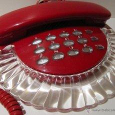 Teléfonos: TELEFONO VINTAGE ROJO Y TRANSPARENTE ROMEO. AÑOS 80. Lote 41471841