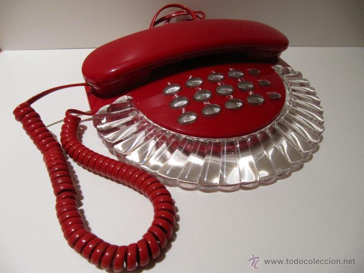 Teléfonos: TELEFONO VINTAGE ROJO Y TRANSPARENTE ROMEO. AÑOS 80 - Foto 2 - 41471841