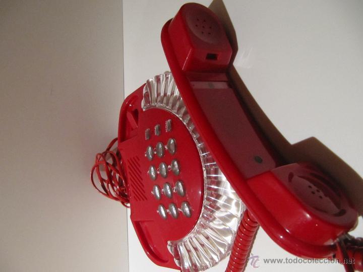 Teléfonos: TELEFONO VINTAGE ROJO Y TRANSPARENTE ROMEO. AÑOS 80 - Foto 3 - 41471841