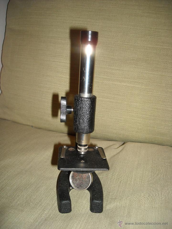 MICROSCOPIO AÑOS 40 (Antigüedades - Técnicas - Instrumentos Ópticos - Microscopios Antiguos)