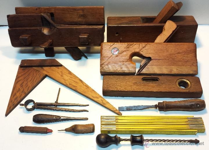 Lote 12 herramientas antiguas carpinteria car comprar - Herramientas de campo antiguas ...