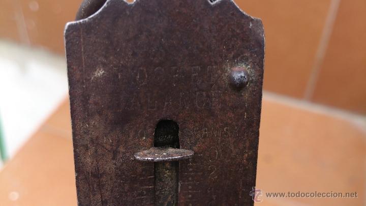 Antigüedades: antigua bascula de bolsillo - pocket balance - pesa hasta 26 kgs - Foto 5 - 41560400