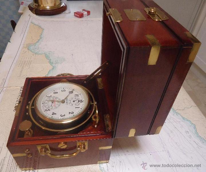 Reloj de barco cronometro de barco cuerda anti comprar - Antiguedades de barcos ...