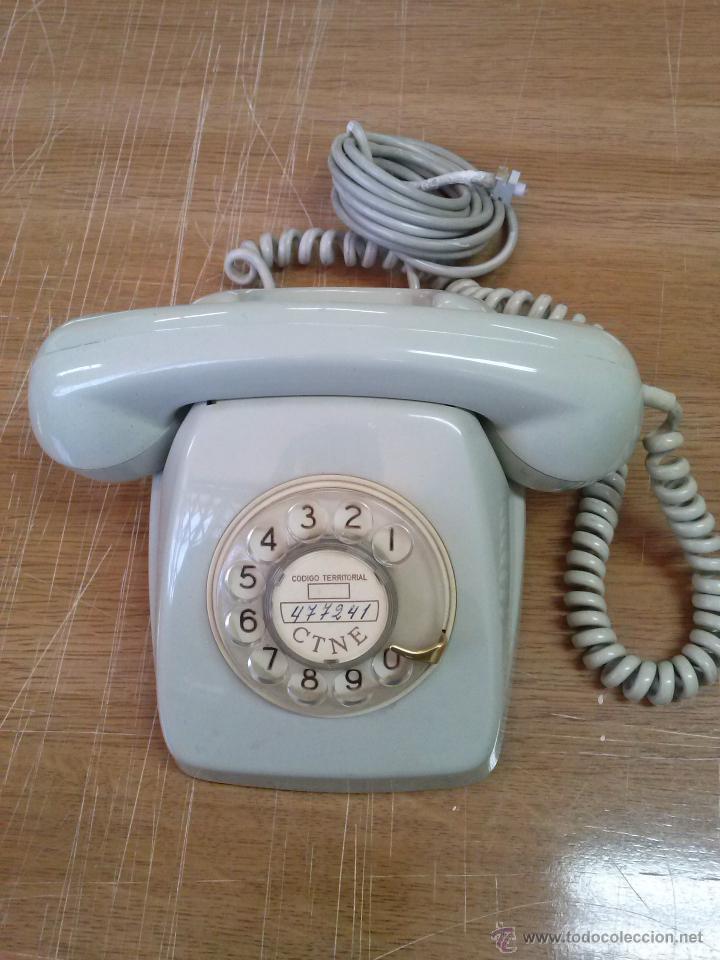 TELEFONO MODELO HERALDO COLOR GRIS (Antigüedades - Técnicas - Teléfonos Antiguos)