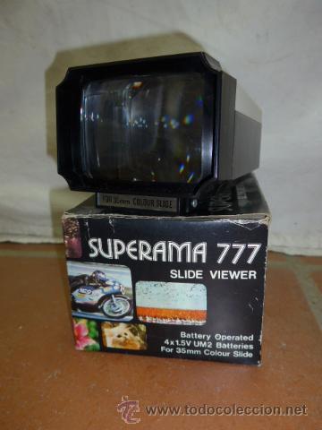 ANTIGUO VISOR ORIGINAL, SUPERAMA 777 SLIDE VIEWER (Antigüedades - Técnicas - Aparatos de Cine Antiguo - Visores Estereoscópicos Antiguos)