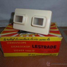 Antigüedades: ANTIGUO VISOR ORIGINAL, STEREOSCOPE LESTRADE. Lote 41587435