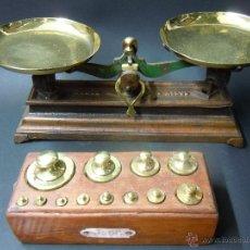 Antigüedades: BALANZA PEQUEÑA DE 500 GRAMOS. Lote 41618531