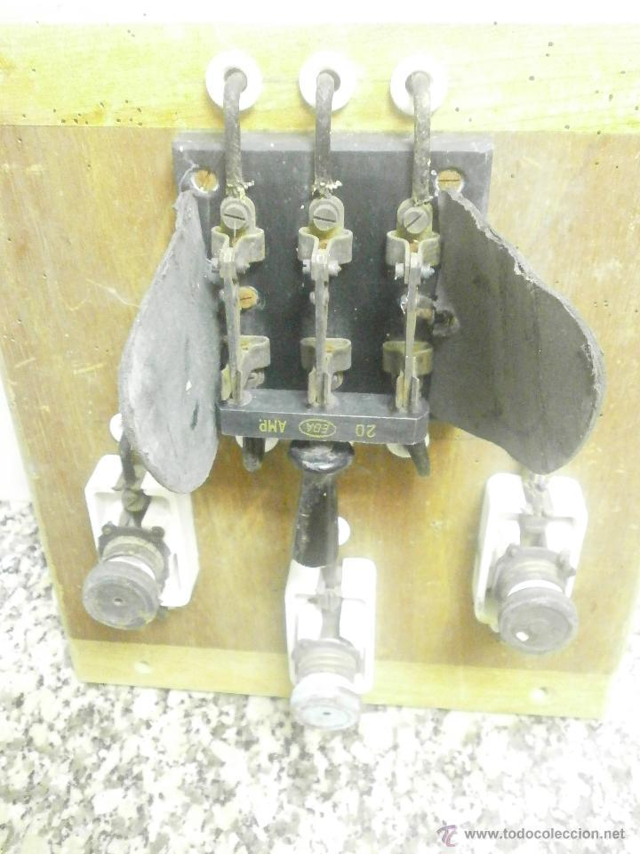 Antigüedades: ANTIGUO CUADRO ELECTRICO - Foto 5 - 41689708