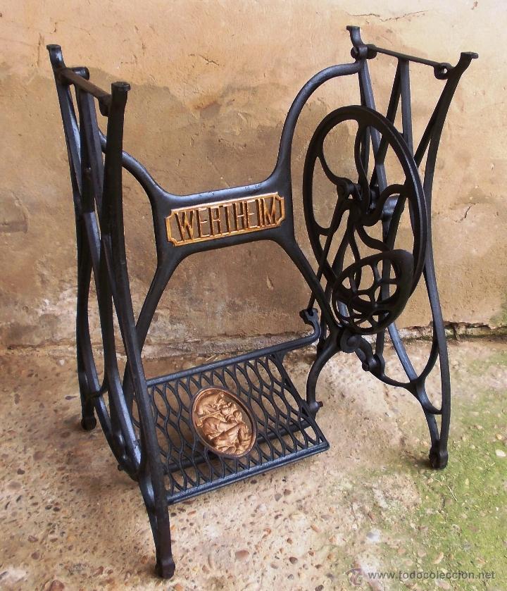 Mesa hierro maquina de coser wertehim antigua - Vendido en