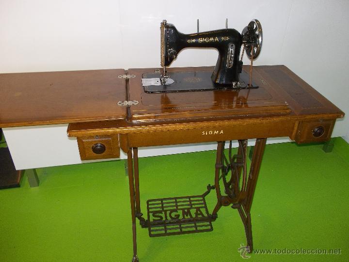 Maquina de coser antigua sigma modelo a especia - Vendido