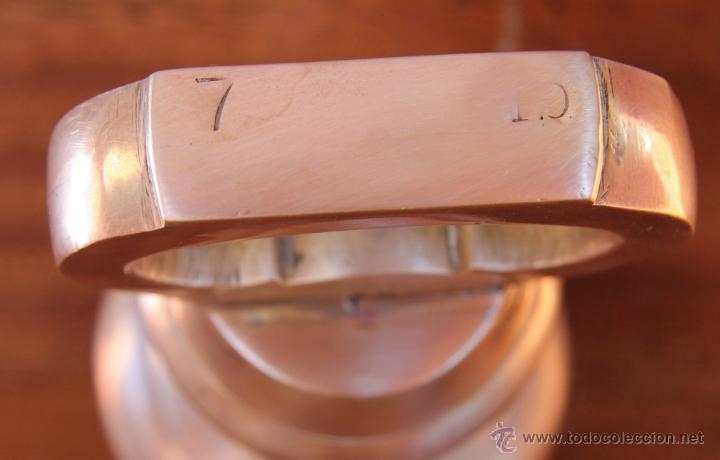 Antigüedades: PRECIOSA PESA INGLESA DE BRONCE 18 CM ALTURA, 3.125 GR MARCAS NUMERACIONES EN BASE - DECORACION - Foto 4 - 41747063