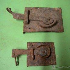 Antigüedades: LOTE DE 2 PESTILLOS PARA VENTANAS - PESTILLO ANTIGUO -. Lote 41796921