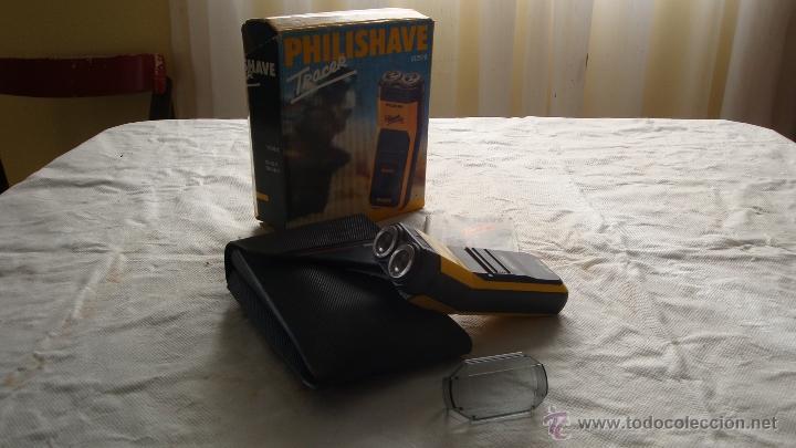 Antigüedades: Antigua Maquinilla electrica de afeitar Phillips años 70 - 80 en su caja original FUNCIONA - Foto 2 - 41849886