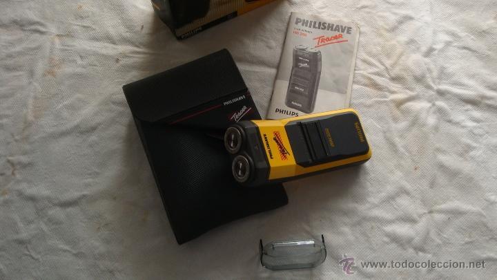 Antigüedades: Antigua Maquinilla electrica de afeitar Phillips años 70 - 80 en su caja original FUNCIONA - Foto 3 - 41849886