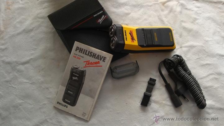 Antigüedades: Antigua Maquinilla electrica de afeitar Phillips años 70 - 80 en su caja original FUNCIONA - Foto 6 - 41849886